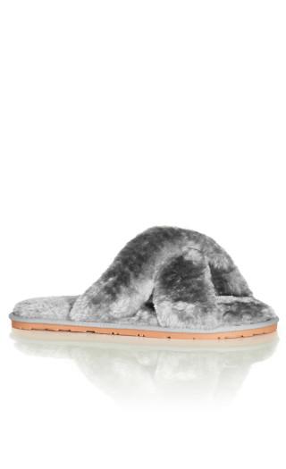 Fuzzy Slipper - grey