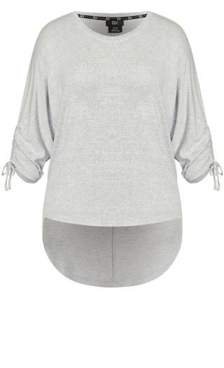Soft Drawstring Top - soft grey