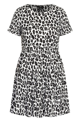 Relaxed Animal Dress - ivory