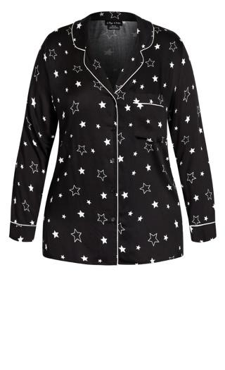 Galaxy Sleep Shirt - black