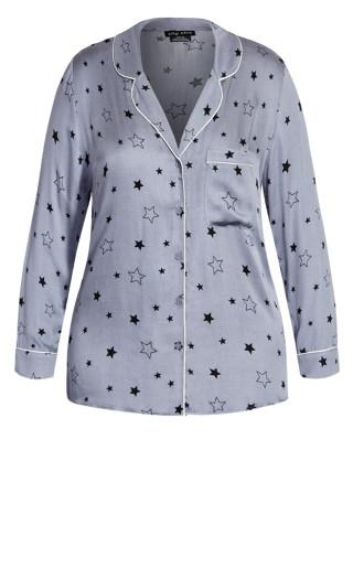 Galaxy Sleep Shirt - grey