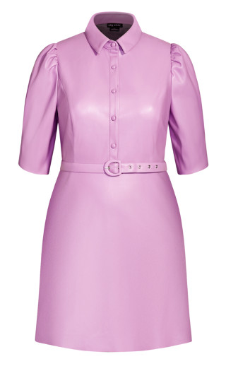 Wild Sleeve Dress - lilac