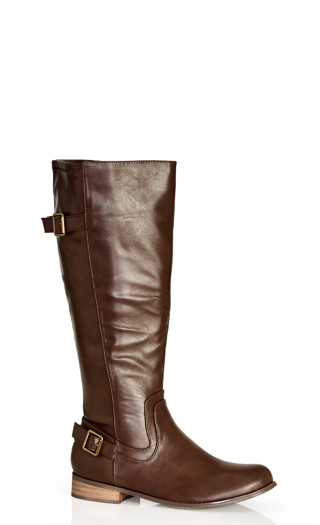 Cilla Knee Boot - chocolate