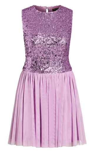 Shine Bright Dress - lilac