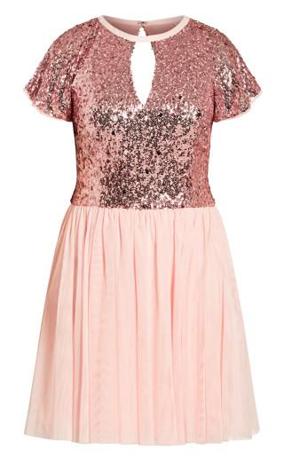 Dazzle Dress - ice pink