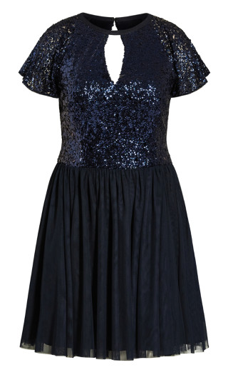 Dazzle Dress - sapphire