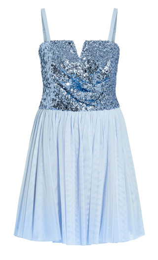 Sparkle Tulle Dress - baby blue