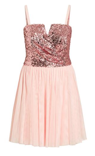 Sparkle Tulle Dress - ice pink