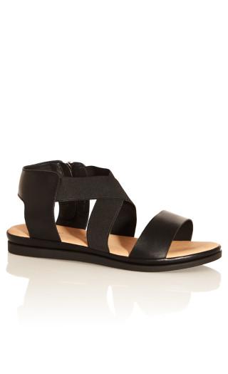 Jane Double Strap Sandal - black