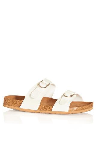 Suzie Texture Sandal - white