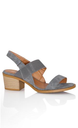 Dalia Stack Sandal - steel blue