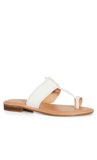 Leah Sandal - white