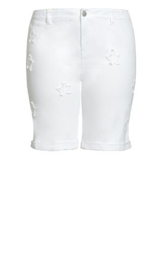 Denim Star Short - white