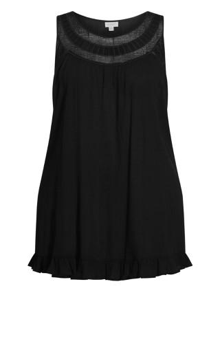 Rosalie Crochet Tunic - black