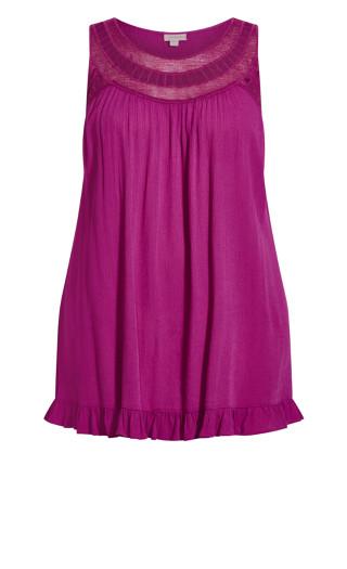 Rosalie Crochet Tunic - purple