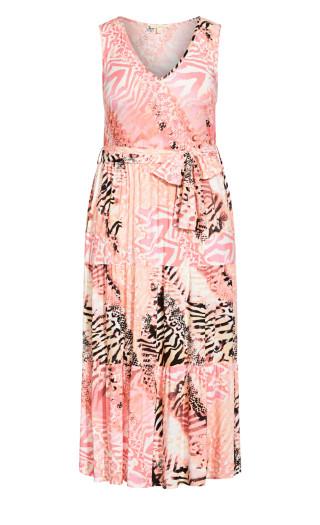 Seashore Maxi Dress - blush animal