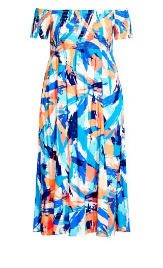 Raelynn Dress - blue brushstroke