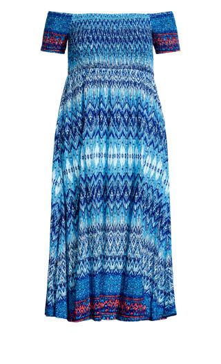 Raelynn Dress - aqua print