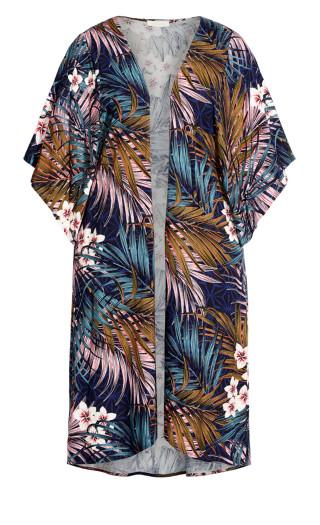 Serene Duster - blue palm