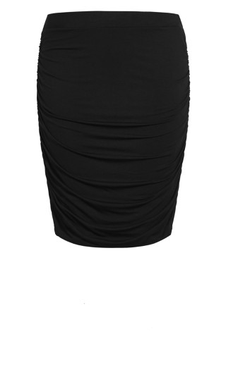 Ruched Skirt - black