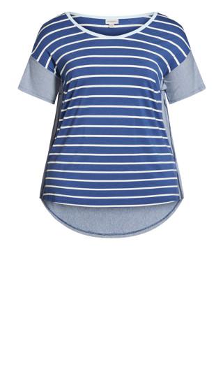 Jaycee Stripe Top - indigo