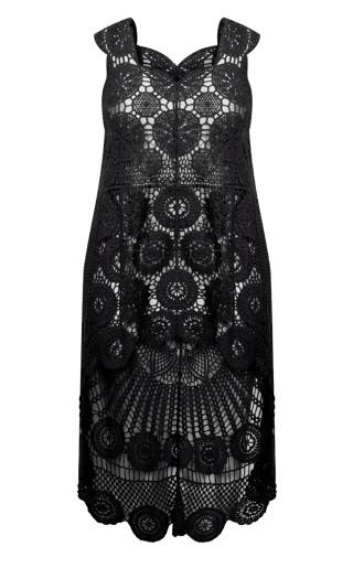Kelsey Crochet Top - black