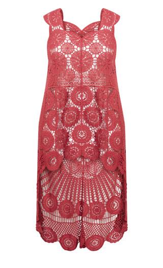 Kelsey Crochet Top - rose