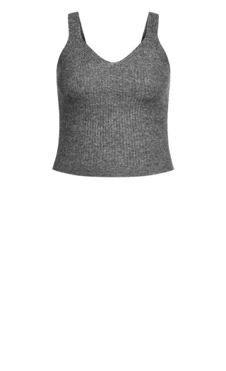 Luxe Knit Cami - steel