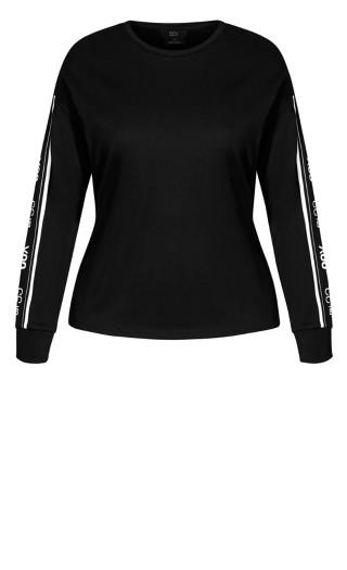 Chillax Sweat Top - black