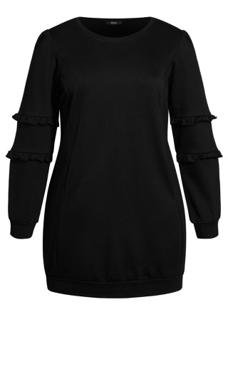 Chilled Fringe Dress - black