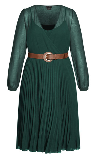 Precious Pleat Dress - jade