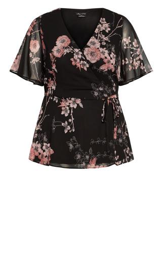 Blossom Love Top - black