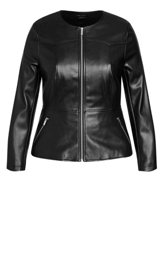 Sleek Zip Jacket - black
