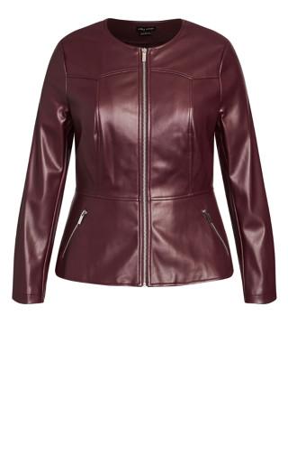 Sleek Zip Jacket - bordeaux