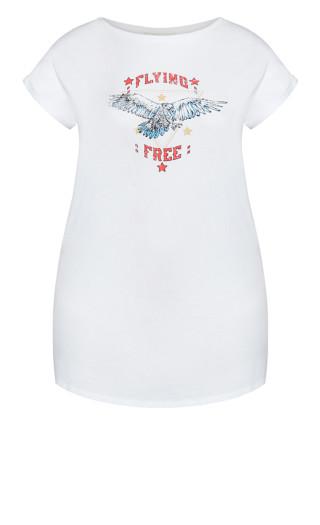 Graphic Tunic - white