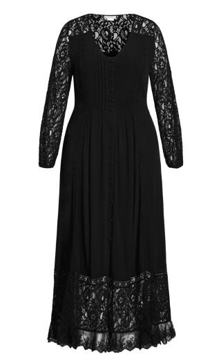 Fallen Angel Maxi Dress - black