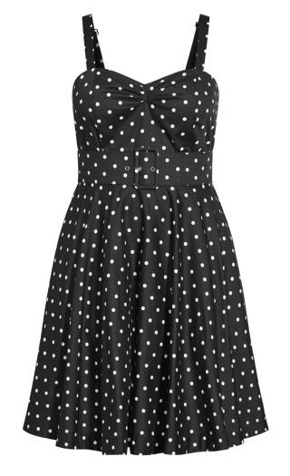Sexy Pin Up Dress - black
