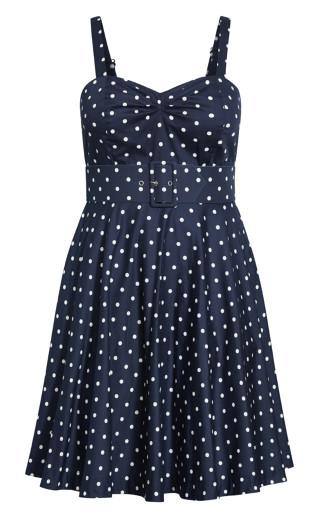 Sexy Pin Up Dress - navy