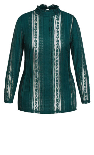 Panelled Lace Top - alpine