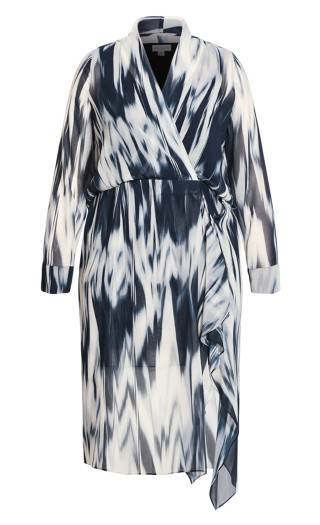 Sound Wave Dress - ivory
