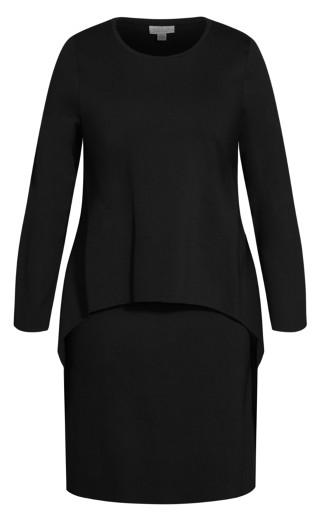 Double Layer Dress - black