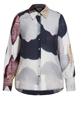 Sheer Coral Shirt - coral