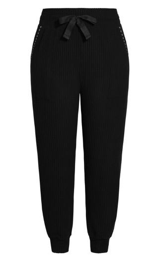 Clean Rib Pant - black