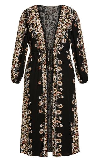 Heavenly Floral Jacket - black