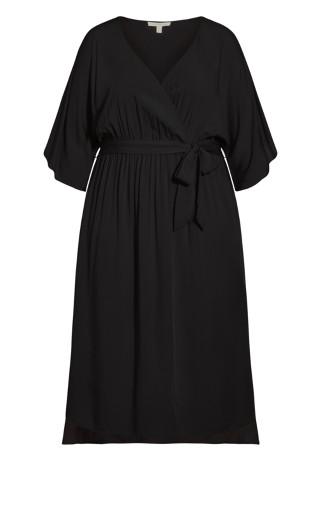 Day Date Plain Maxi Dress - black