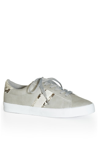 EXTRA WIDE FIT Snake Detail Trainer - grey