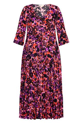 Endless Sun Maxi Dress - fuchsia floral