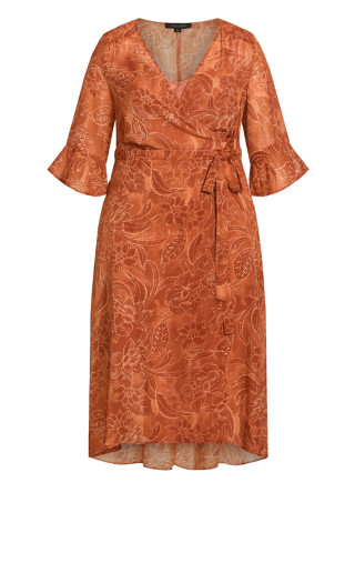 Viola Wrap Dress - copper