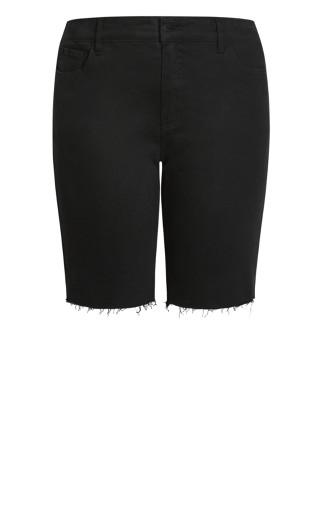 Denim Fray Short - black