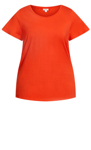 Flutter Stretch Top - tango red